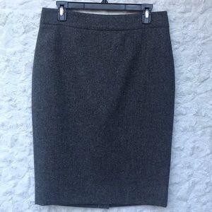 EUC J. Crew Gray Tweed  No.2 Pencil Skirt Sz8
